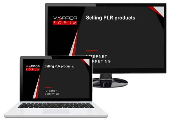 Selling PLR Products On WarriorForum