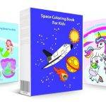 3-in-1 Coloring Book Pack: Mermaids, Space & Unicorns